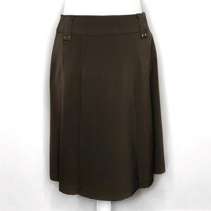 CARLISLE A-Line Dark Green Skirt